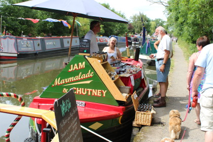 Photograph: Rally 2014 - the shortest trading boat, 27 foot long, selling jams, marmalade, chutney and cordials